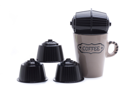 coffee capsules, to prepare coffee in a modern machine