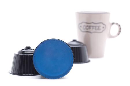 コーヒーカプセル, 現代のマシンでコーヒーを準備する 写真素材