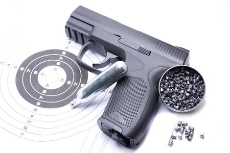 compressed air gun that shoots pellets for sports practice 版權商用圖片 - 123759232