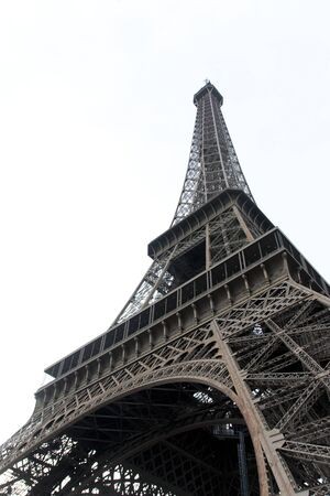 the eiffel tower, one of the most visited monuments in the world Stok Fotoğraf