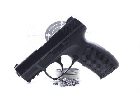 pistolet à air comprimé qui tire des plombs pour la pratique sportive Banque d'images