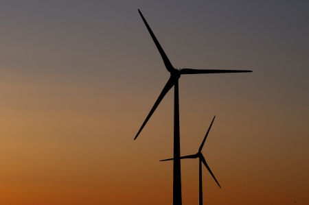 environmen: Eco turbines Stock Photo