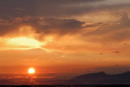 Sunset on Mars Stock Photo - 16139604