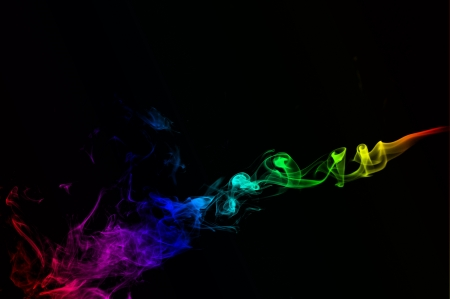 tumble down: First smoke-An abstract shape of smoking flame with colours