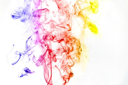 tumble down: Smoking flames-An abstract shape of smoking flame with colours