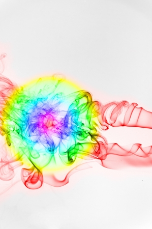 tumble down: Neural explosion-An abstract shape of smoking flame with colours