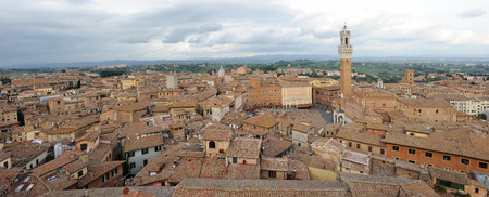 priori: Aerial view of Siena in Tuscany,Italy