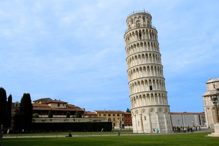 驚くべきの斜塔ピサ、イタリア トスカーナで