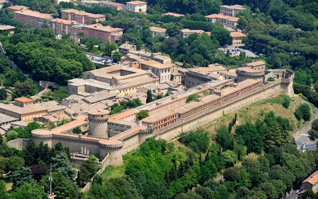 penitentiary: Aerial view of Volterra39s penitentiary Tuscany Italy