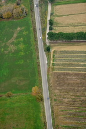 on the lonely road: A lonely road in a green country