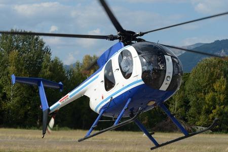 breda: Helicopter flies near the ground