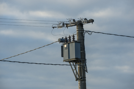 Transformer of electricity, capacitor, high tension