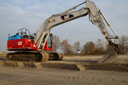 earthmover: Excavator or earthmover - mechanical digger