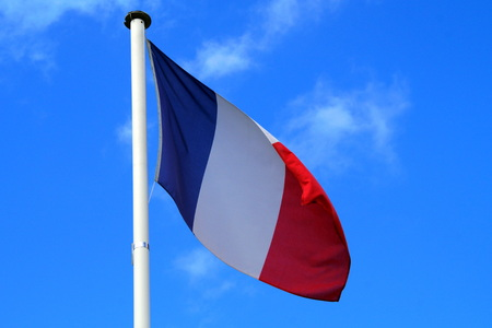 low angles: National Flag of France Europe