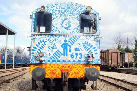 diesel: NS Class 600 diesel shunting locomotive back