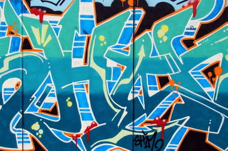 vandalism: Detail of illegal graffiti painted on public wall Vandalism