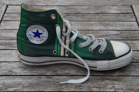 converse: Green Retro Converse All Star - Canvas shoe Editorial