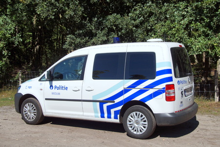 police unit: Belgian Police Car K-9 unit dog handler Belgian police car Editorial
