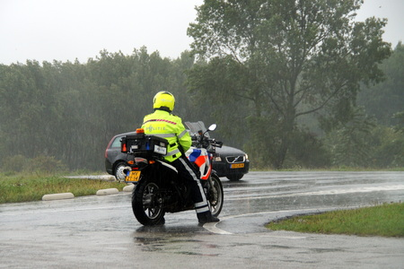 motorcycle officer: Dutch Motorcycle Police Officer