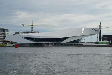 organized group: Futuristic building exterior, The EYE film institute of Amsterdam. Editorial