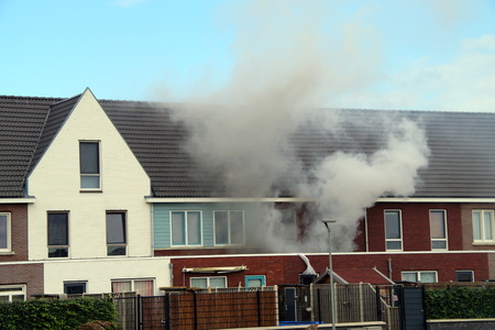 House fire - burning home