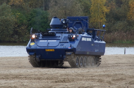 armored: Dutch military police armored vehicle - Royal Constabulary YPR-765, KMar