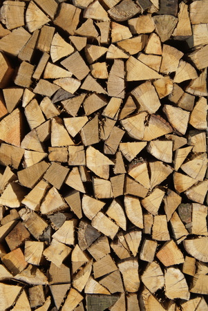 Piles of Cut Firewood - Stack Logs ash pattern