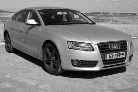 luxuries: AUDI A5 Hatchback - black and white