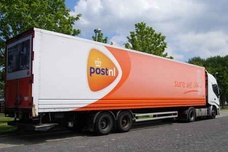 TNT Truck - Dutch mail Editorial