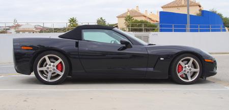 corvette: Black Chevrolet Corvette C6 Targa