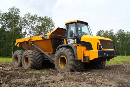Yellow JCB 722 Articulated Dump Truck Editorial