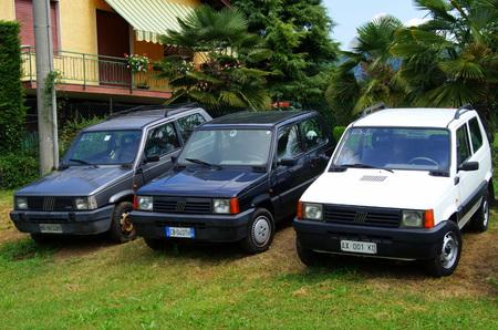 hree fiat pandas compact cars