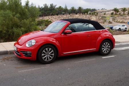 Red Volkswagen Beetle Editorial