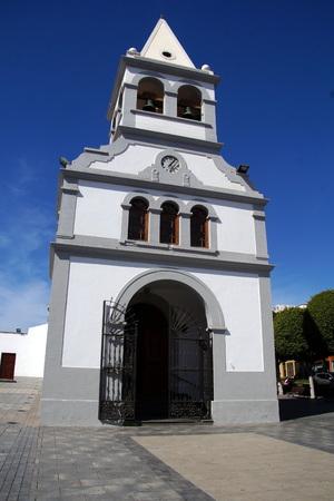 プエルト ・ デル ・ ロザリオ、フェルテベントゥラ島、スペインでヌエストラ セニョーラ デル ロザリオ教会。