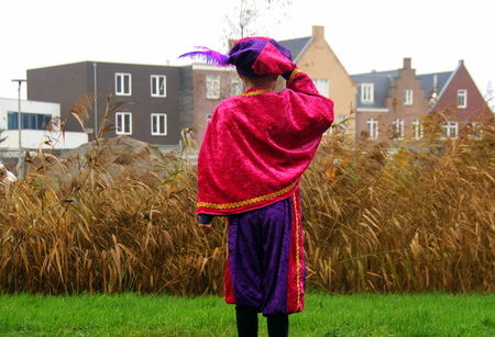 Backside or soot. Piet is a typical Dutch character in a traditional event celebrating the birthday of Sinterklaas. Roet sweep is one of the transformations or Zwarte Piet (Black Pete).