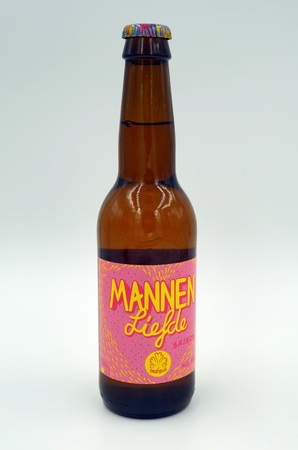 Bottle of Male love beer brewed by Oedipus.