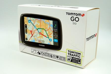TomTom Go GPS Autonavigatiesysteem doos Stockfoto - 92752021