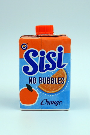 Package of SiSi No Bubbles lemonade drink. Editorial
