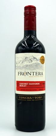 Bottle of Frontera Cabernet Sauvignon Merlot red wine