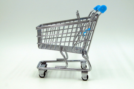 Shopping cart - side view