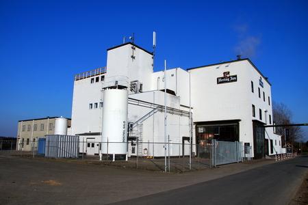 Hertog Jan beer brewery against a clear blue sky. Editorial