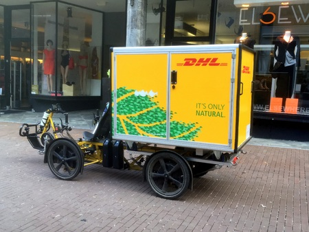 DHL inner-city Electric Delivery Cargo Bike.