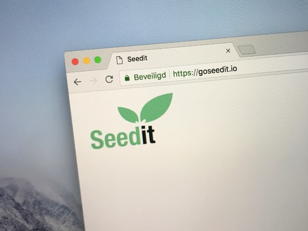 Amsterdam, the Netherlands - September 15, 2018: Website of GoSeedit or Seedit, a multi-platform payment system for the digital cryptocurrency Tron. Editorial