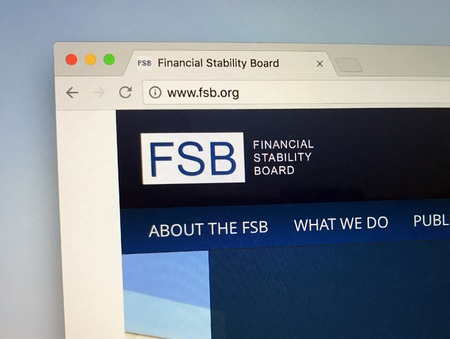 Amsterdam, the Netherlands - July 16, 2018: Website of The Financial Stability Board or FSB, an international body that monitors and makes recommendations about the global financial system.