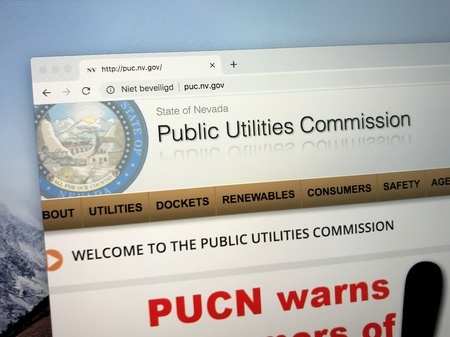 Almere, Netherlands - October 13, 2018: Website of The Public Utilities Commission of Nevada or PUCN. This agency supervises and regulates the operation and maintenance of utility services in Nevada. Editorial