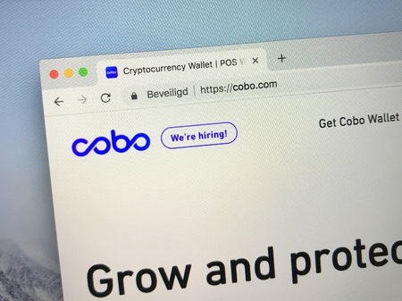 Amsterdam, Netherlands - October 19, 2018: Website of Cobo Wallet, a cryptocurrency wallet. Editorial