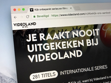 Amsterdam, Netherlands - June 13, 2018: Website or video country, a Dutch Video on demand service owned by RTL Nederland.