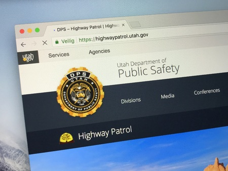 Amsterdam, Netherlands - May 28, 2018: Website of Utah Department of Public Safety, the Parent agency of The Utah Highway Patrol.