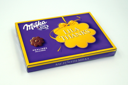 Amsterdam, the Netherlands - December 10, 2018: Milka chocolate gift box. Editorial