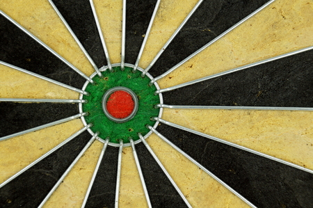 Green red bullseye background - close up
